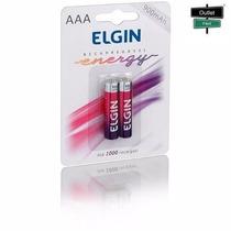 Outletfacil - Pilha Recarregável Elgin Aaa Telefone S/ Fio