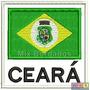 Bordado Termocolante - Bandeira Do Ceará Com Nome 8x7,5cm