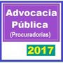 Advocacia Pública Procuradorias 2017 Dvd Vídeo + Apostilas
