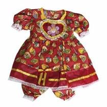 Vestido Festa Junina Menina Princesa Infantil 1 A 4anos Top
