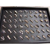 Atacado Kit 25 Anéis Semi-jóias Folheados De Ouro Revenda