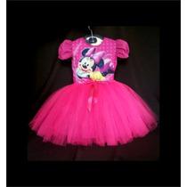 Vestido Infantil Festa Minnie Rosa Bailariana Fantasia