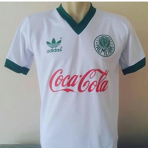 14128167f0b70 Camisa Palmeiras Retrô Branca Coca-cola
