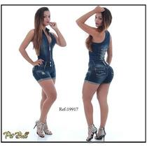 Macaquinho Pit Bull Jeans 38 Com Bojo Removível Cód. 19917