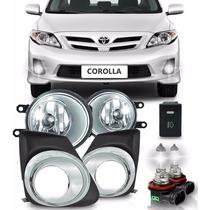 Kit Farol De Milha Auxiliar Corolla Cromado 2012 2013 2014