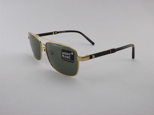 7eeff8533a9be Óculos De Sol Mont Blanc 648 Gold Premium - R  285 en Melinterest