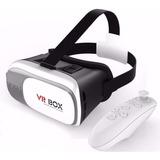 Óculos Vr Box 2.0 Realidade Virtual 3d Android Com Controle