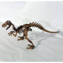 Quebra Cabeça 3d - Coleção Dinossauros - Velociraptor Mdf