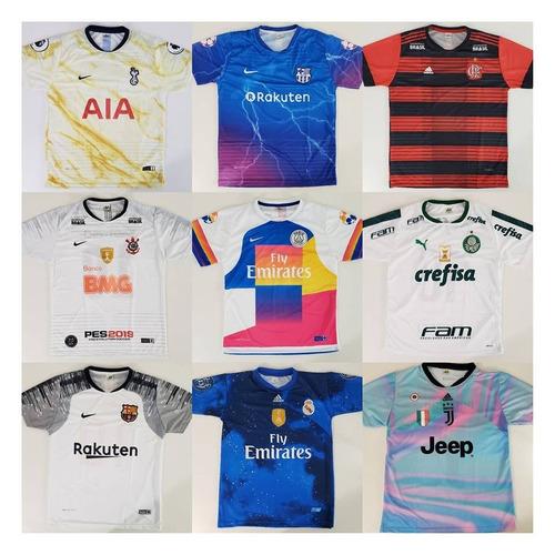 1d3d865d1c3f9 Camisetas De Times De Futebol-kit 10 Unidades- P  Revenda