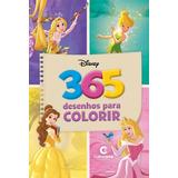 Livro De Pintura Princesas Disney Menina - 365 Para Colorir
