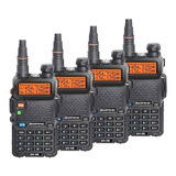 Kit 4 Radio Ht Uv-5r Comunicador Baofeng Dual Band Airsoft