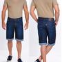 Bermuda Jeans Masculina Barra Xadrez Plus Size