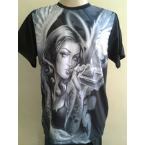 Camisa Camiseta Lost Angel Swag Chicano Lowrider Gangster