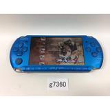 Psp 3000 Slim  Blue Vibrante Desbloqueado 32gb + Jogos