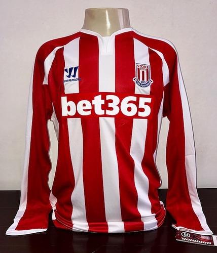 Camisa Stoke City Premier League Inglaterra Colecionador 90632e11826