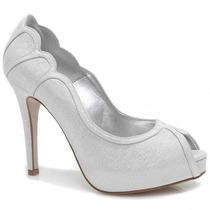 Sapato Laura Porto Peep Toe Meia Pata | Zariff