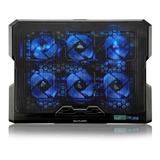 Cooler Para Notebook Com 6 Coolers Em Led Azul Multilaser
