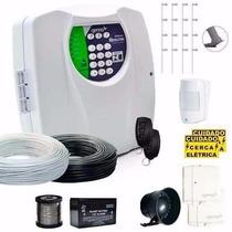 Kit Cerca Eletrica 120m E Alarme Genno S/ Fio(sensor,choque)
