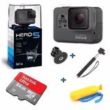 Go Pro Hero5 Black Camera Gopro 5 Tela Lcd +64gb + 2 Bastoes