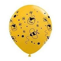 25 Balões/bexigas Estampa Abelhinhas