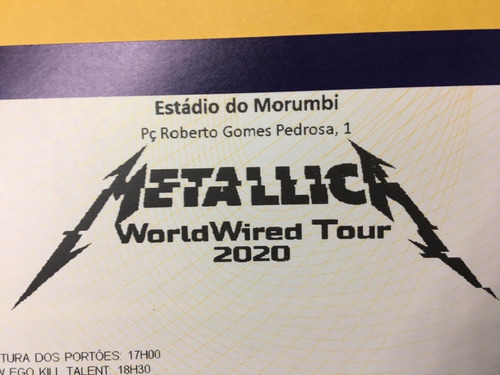 Ingresso Show Metallica