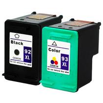 Kit Par De Cartuchos Hp 92xl Preto (black) E 93xl Colorido (