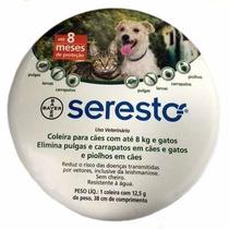 Coleira Seresto Anti Pulgas E Carrapatos Bayer Até 8kg
