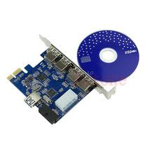 5 Portas Pci-e Pci Express Usb 3.0 + Conector 19 Pin