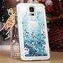 Capa Capinha Samsung Galaxy S5 Glitter Azul Aquario Pel Vidr
