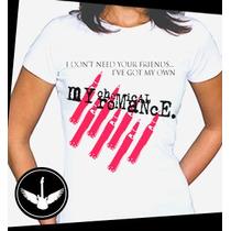 Camiseta My Chemical Romance Banda Rock Baby Look Regata