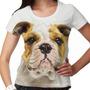 Camiseta Cachorro Bulldog Inglês Feminina