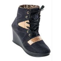 Linda Bota Sneaker Feminina Anabela 36