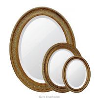 Espelho C/ Moldura Oval Classico Bizotado Tamanho Medio