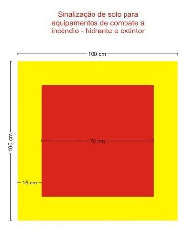Armario Definición Rae ~ Sinalizaç u00e3o De Solo Para Extintor E Hidrante 1mx1m Mostra Fácil