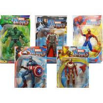 Boneco Homem Aranha Super Heroi Marvel Articulado C/ Led