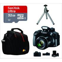 Câmera Canon Sx60 +300 Vendidas, Super Pack, Envio Imediato