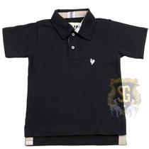 Camisa Polo Infantil Preta Menino 6154 - Jaum Jaum
