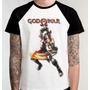 Camiseta Raglan Camisa Blusa Jogo Game God Of War