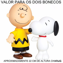 Boneco Charlie Brown + Snoopy Vinil Original - Grow