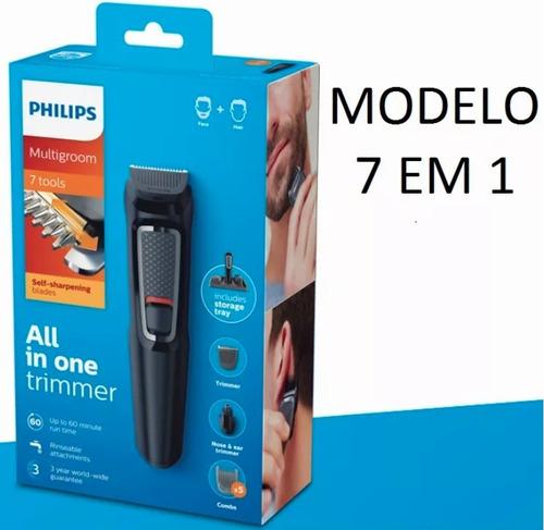 Barbeador Aparador De Pelos Kit Máquina Fazer Barba Philips - R  164 ... 9e717a1d77ab
