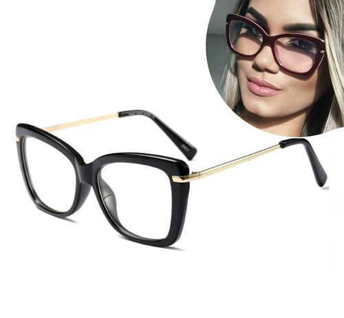 773950f0a Armações de óculos feminino de grau greek quadrado contagem cinema ...
