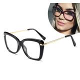 8ea2cf8c5 Armação Para Grau Feminino Oculos Em Acetato Geek Vintage