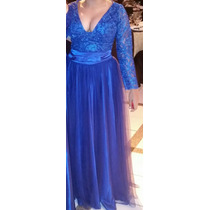 Vestido Festa Azul Royal
