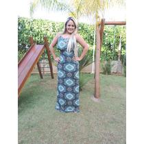 Vestido Longo Babado C/ Fenda - Mandala Flores Top 2016
