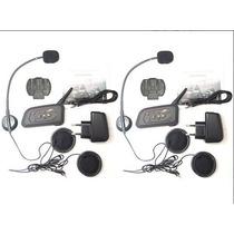 Intercomunicador Bluetooth P/ Capacete Moto Bt V6 1200m