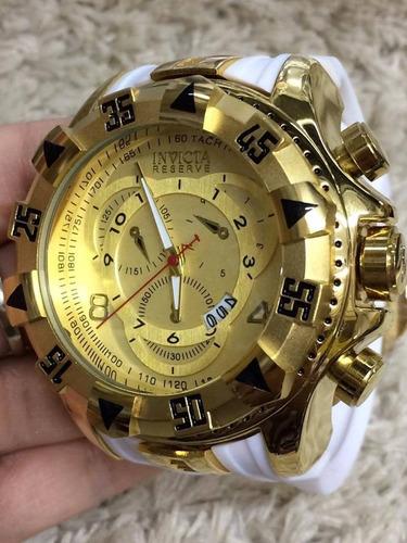 8a1635ff082 Relógio Masculino Dourado Barato Pesado Aço Top !!!