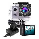Kit Filmadora Action Câmera 4k + Bateria 900mah + Carregador