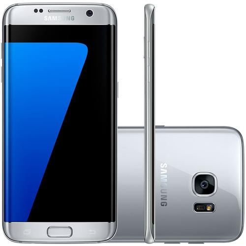 Smartphone Barato Samsung Galaxy S7 Edge Prata Autofocus 4g