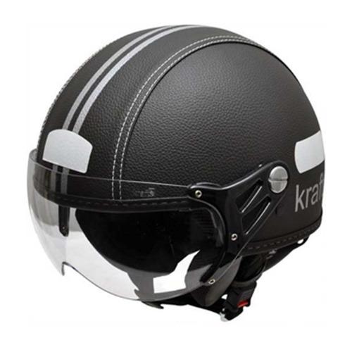 Capacete Aberto Kraft Plus Preto Couro Harley Drag Shadow b03215f3c76