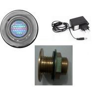 Kit Iluminação Para Piscina 1 Refletores 25 Leds + Fonte